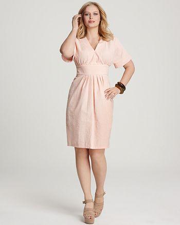 Melissa Masse Plus Size Seersucker Dress Bloomingdales