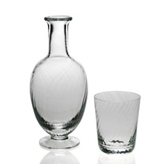 William Yeoward Crystal - Quilty Bedside Carafe and Tumbler Set