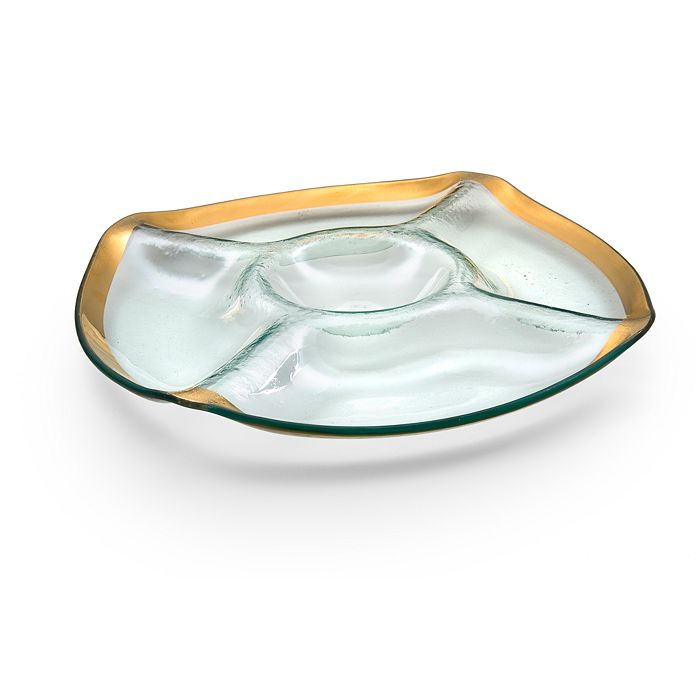 Annieglass - Roman Antique Chip 'N' Dip
