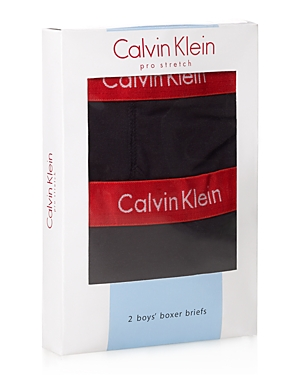 Calvin Klein Ck Boys' Boxer Briefs,  2 Pack - Little Kid,  Big Kid