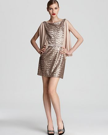 ERIN Erin Fetherston - Sequin Dress - Cowl Sleeve