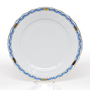 Herend Chinese Bouquet Dinner Plate, Garland Blue