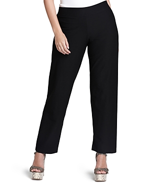 Eileen Fisher Plus Size Stretch Crepe Straight Pants