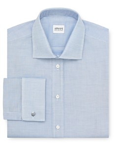 Armani Collezioni Micro Texture Dress Shirt - Regular Fit - Bloomingdale's_0