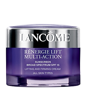 What It Is: A daily moisturizer with Spf 15 that visibly lifts and tightens all facial zones. What It\\\'S For: All skin types. What It Does: Looking for firmer skin in just one week? Lancome\\\'s powerful day cream visibly lifts and tightens all facial zones, blending seamlessly into the skin for a refined, new softness. This best-selling formula works to minimize signs of aging-such as wrinkles and fine lines-while added Spf 15 provides additional protection against future sun damage. This silky cre