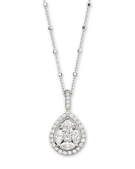 Bloomingdale's - Diamond Pendant in 14K White Gold, 1.50 ct. t.w. - 100% Exclusive