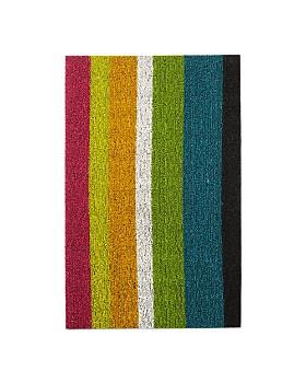 """Chilewich - Bold Stripe Indoor/Outdoor Shag Mat, 18"""" x 28"""""""