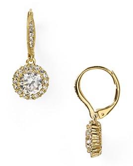 Nadri - Nadri Framed Round Cubic Zirconia Drop Earrings