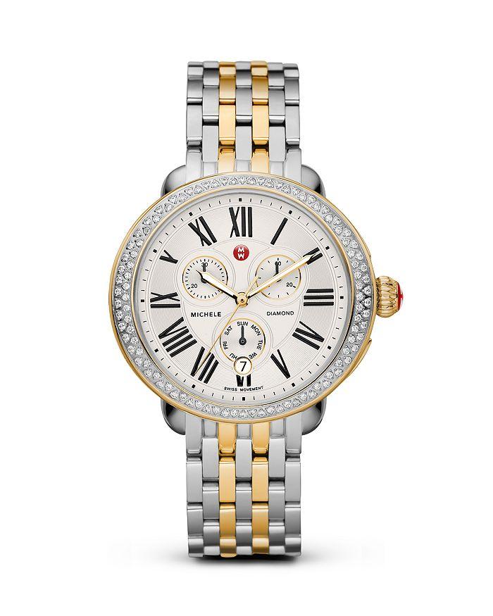 MICHELE - Serein Two-Tone Diamond Watch Head, 40 x 38mm & Serein Two-Tone Watch Bracelet, 18mm