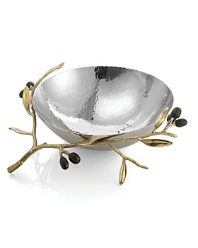 Michael Aram - Olive Branch Gold Medium Serving Bowl