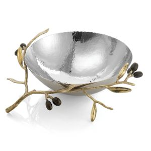 Michael Aram Olive Branch Gold Medium Serving Bowl
