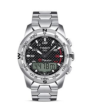 Tissot T-Touch Ii Men's Black Carbon Quartz Multifunction Titanium Watch, 43mm