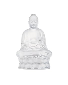 Lalique - Small Buddha Figure, Clear