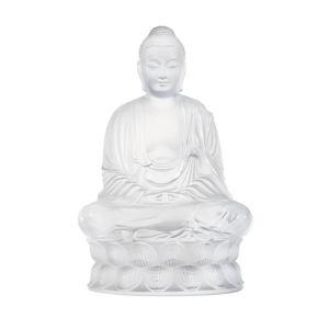 Lalique Small Buddha Figure, Clear