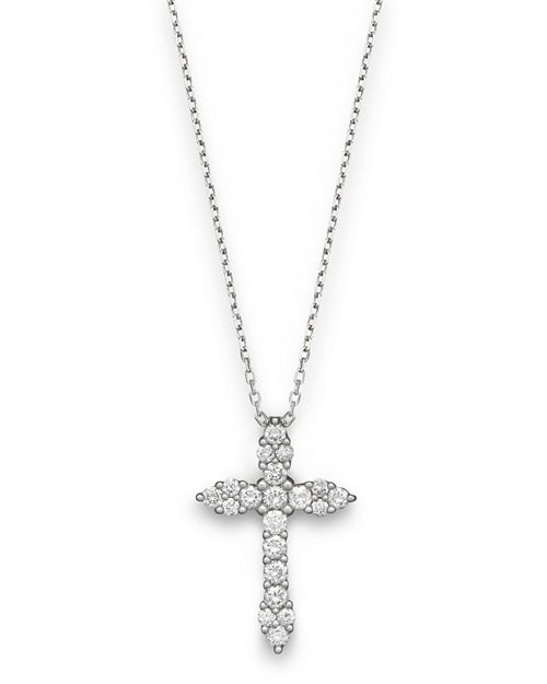 Bloomingdale's - Diamond Cross Pendant in 14K White Gold, .50 ct. t.w.- 100% Exclusive