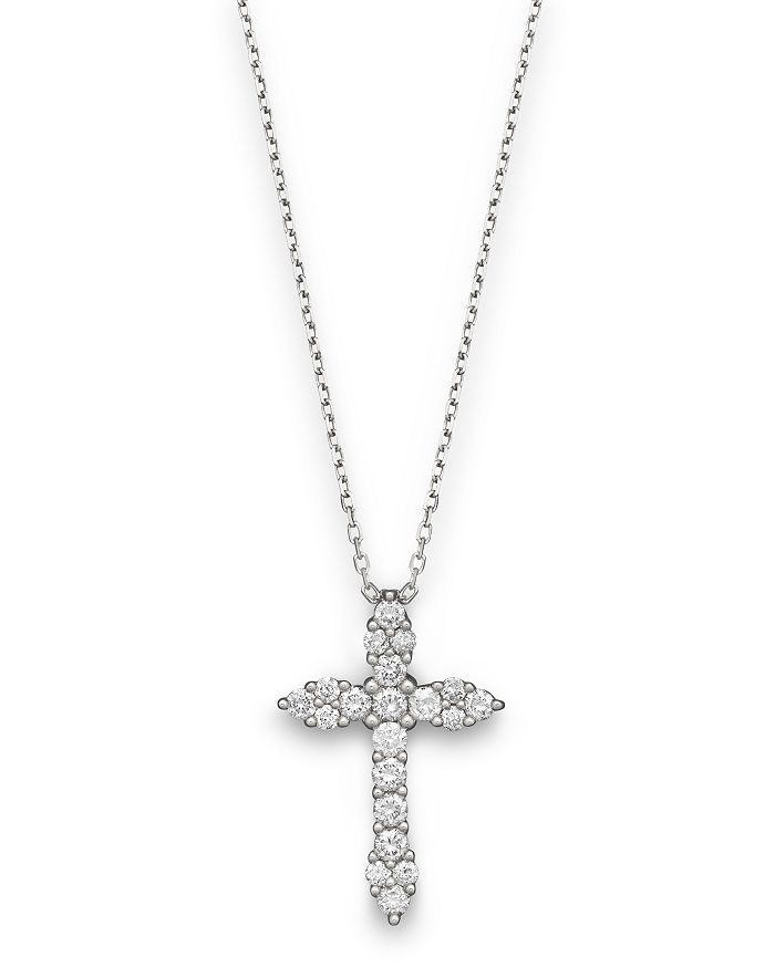Bloomingdale's - Diamond Cross Pendant in 14K White Gold, .50 ct. t.w. - 100% Exclusive
