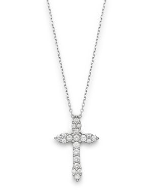 Diamond Cross Pendant Necklace in 14K White Gold, .50 ct. t.w. - 100% Exclusive