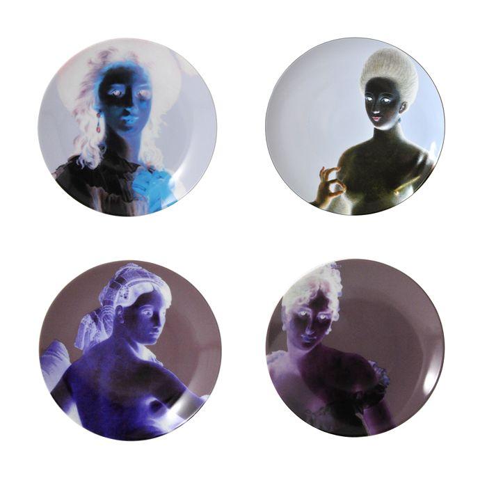 Bernardaud - Portraits Classiques Dinner Plates, Set of 4