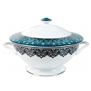Philippe Deshoulieres Dhara Peacock Soup Tureen with Lid