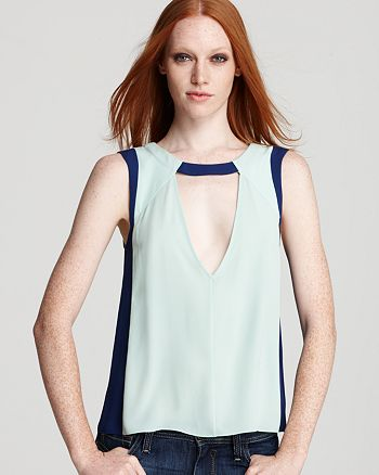 BCBGMAXAZRIA - Top - Color Block Cutout