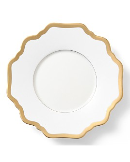 Anna Weatherley - Simply Anna Antique White with Gold Saucer