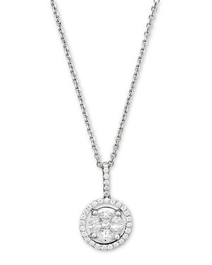 Diamond Pendant Necklace in 14K White Gold, .55 ct. t.w. - 100% Exclusive
