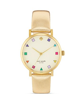 kate spade new york - Gold Patchwork Metro Watch, 34mm