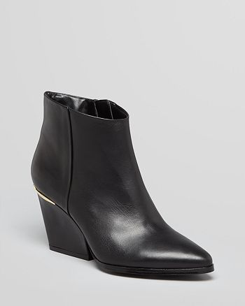 Boutique 9 - Pointed Toe Wedge Booties - Soke Low Heel