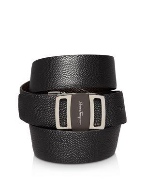 Salvatore Ferragamo Reversible Stamped Logo Buckle Belt