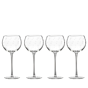 kate spade new york Larabee Dot Balloon Glasses, Set of 4-Home