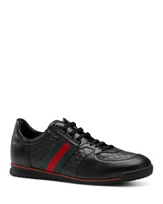 Gucci Micro Guccissima Lace-Up Sneaker with Web Detail - Bloomingdale's_0
