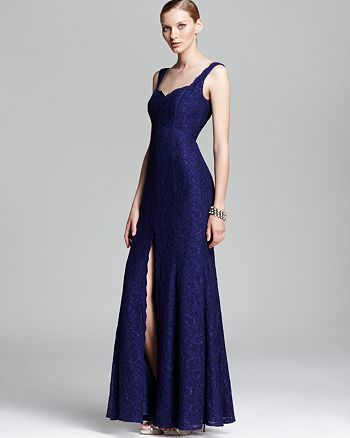 ML Monique Lhuillier - Sleeveless Lace Gown
