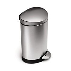 simplehuman 6 Liter Mini Semi-Round Step Garbage Can - Bloomingdale's_0