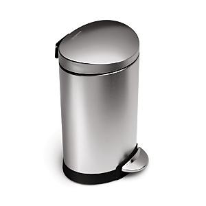 simplehuman 6 Liter Mini Semi-Round Step Garbage Can