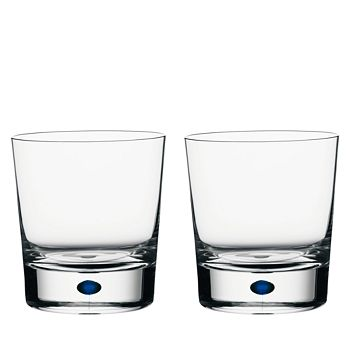 Orrefors - Intermezzo Blue Set of 2 Double Old Fashioned Glasses