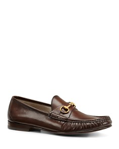 Gucci - Men's Leather Horsebit Loafers