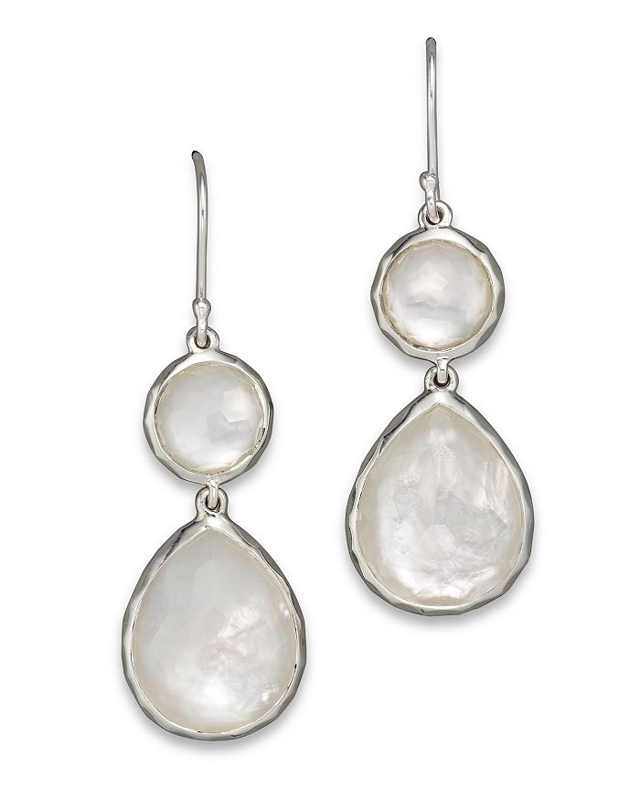 IPPOLITA - Sterling Silver Wonderland Teardrop Snowman Doublet Earrings in Mother-of-Pearl