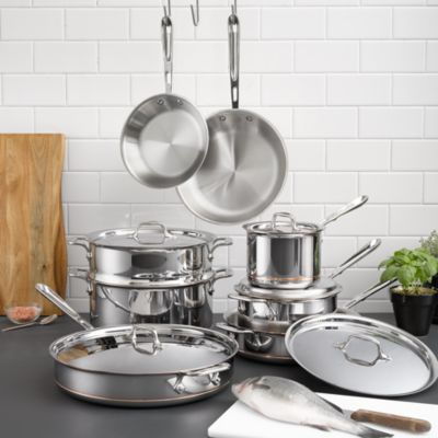 All Clad Copper Core 13Piece Cookware Set Bloomingdales
