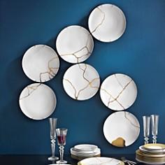 Bernardaud - L'Art de la Table Kintsugi by Sarkis Coupe Plates, Set of 12