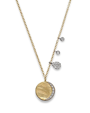 Meira T Diamond Disc Charm Necklace in 14K Yellow Gold, 16-Jewelry & Accessories