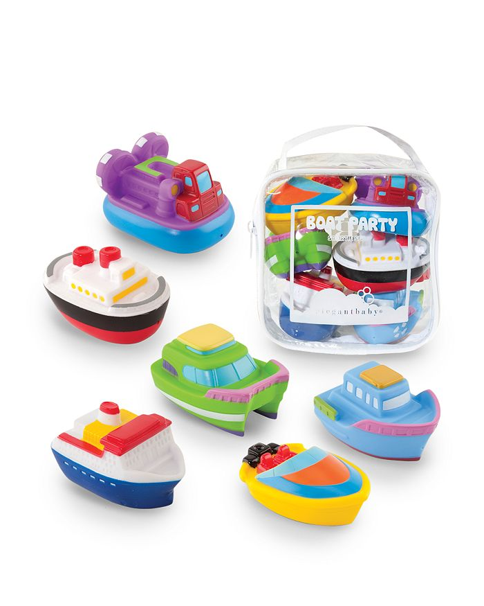 Elegant Baby - Boat Party Squirties Bath Toys - Ages 6 Months+