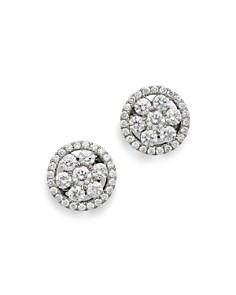Roberto Coin 18K White Gold Diamond Round Cluster Earrings - Bloomingdale's_0