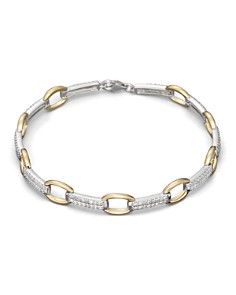 Bloomingdale's - Pavé Diamond Link Bracelet in 14K White and Yellow Gold, .75 ct. t.w.- 100% Exclusive