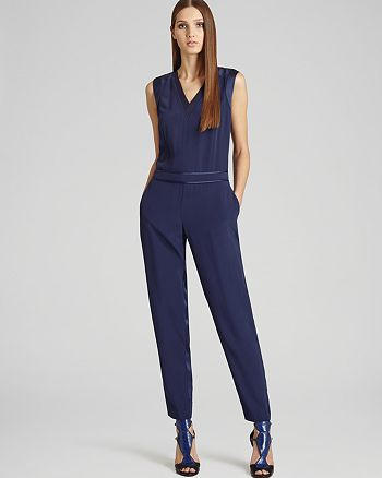 a97294b5f5c REISS - Roana Satin Trim Jumpsuit