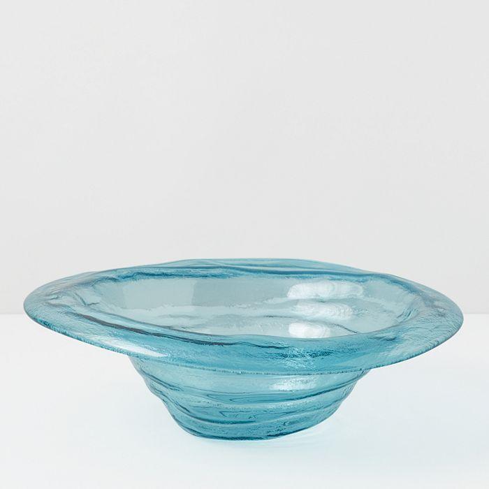 Annieglass - Ultramarine Small Rimmed Serving Bowl