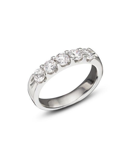 Bloomingdale's - Certified Diamond 5 Station Band in 18K White Gold, 1.0 ct. t.w. - 100% Exclusive