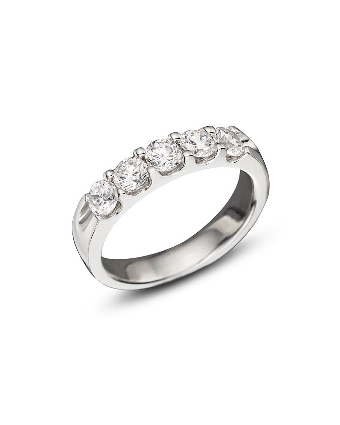 Bloomingdale's - Certified Diamond 5 Station Band in 18K White Gold, 1.0 ct. t.w.- 100% Exclusive