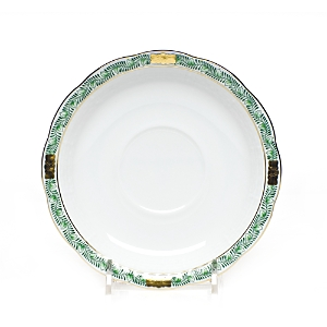 Herend Chinese Bouquet Garland Green Tea Saucer