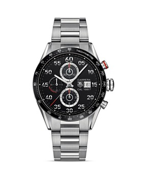 TAG Heuer - TAG Heuer Carrera Calibre 1887 Automatic Stainless Steel and Ceramic Chronograph Watch, 43mm