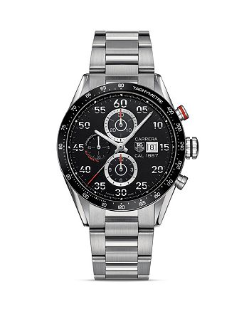 TAG Heuer - Carrera Calibre 1887 Automatic Stainless Steel and Ceramic Chronograph Watch, 43mm